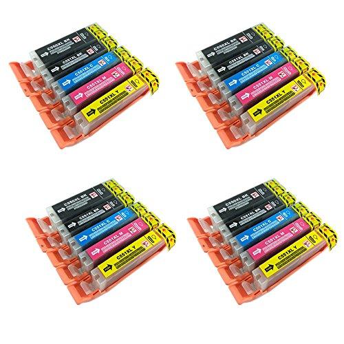 Perfect Print PGI550/CLI551 - Cartucho de tinta compatible con Canon  PGI-550 / CLI-551, colores surtidos - paquete de 20 unidades