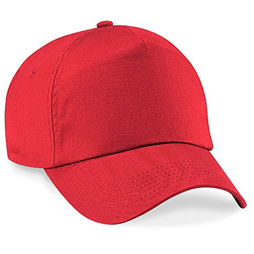 4sold Junior Original 5 Panel Cap Unisex Jungen Mädchen Mütze Baseball Cap Hut Kinder Kappe (Bright Red)