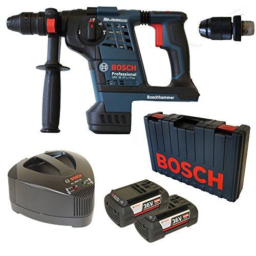 Preisvergleich Produktbild Bosch Akku-Bohrhammer GBH 36 VF-Li PLUS mit Meißelfunktion 2 x Akku 36V 4,0 Ah und Ladegerät AL3680CV inkl. Wechselfutter im Handwerkerkoffer