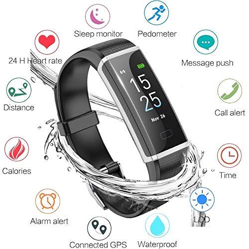 LIGE Montre Connectée Bracelet Connecté Podometre Cardio Homme Femme Enfant Smart Watch Android iOS Etanche IP68 Smartwatch Sport Running Sommeil Calorie pour iOS&Android