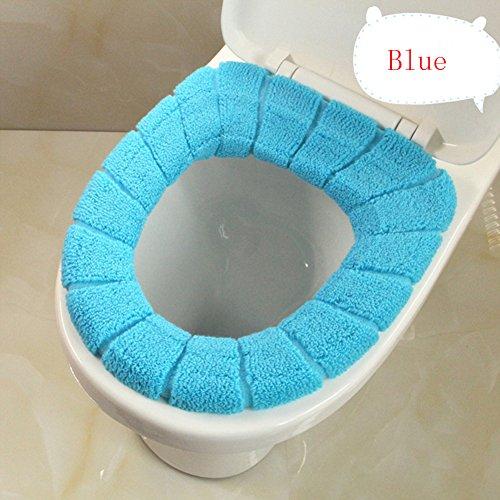 Gezichta coprisedile wc, cute cover top coprisedile più caldo, lavabile in cotone per cuscino, ideale per bagno, per casa hotel bagno wc, blue, taglia libera