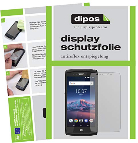 dipos I 6X Schutzfolie matt passend für Crosscall Trekker X4 Folie Bildschirmschutzfolie