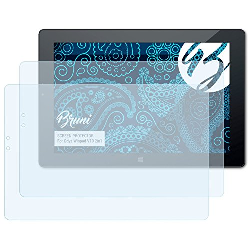 Bruni Schutzfolie kompatibel mit Odys Winpad V10 2in1 Folie, glasklare Bildschirmschutzfolie (2X)