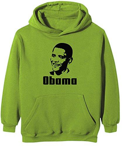 Touchlines Kinder Kapuzen Sweatshirt Barack Obama, real green, 152/164, KK125 Barack Obama Sweatshirt