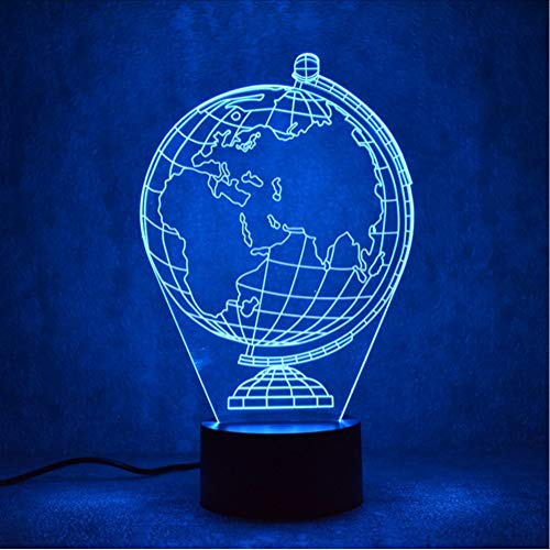 Creative Earth Globe Lamp Gifts 3D Led Visual Colorful Light Fixture USB Table Lamp Lampara Bedside Baby Sleeping Night Light