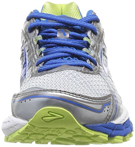 Brooks Adrenaline GTS 15 W, Damen Laufschuhe, Mehrfarbig (White/Sharp Green/D.Blue) - Größe: 38