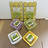 4er Set Wachslicht mit Teelicht + 30 Citronella Teelichter extra - hilfreich zur Mückenabwehr