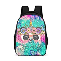 Girls Panda Unicorn Backpack Fashion Lightweight Bookbag - Cartoon Patterns Print Book Bags for Primary School Student Outdoor Use