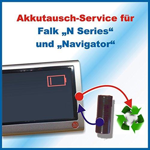 Preisvergleich Produktbild Akkutausch für Navi Falk Series N/ SeriesN / N Series / N Series + Navigator ACHTUNG!!! Ohne vorher zugesendetes Versandmaterial!!! Sehen Sie dafür bitte in die Angebote Premiumtausch *Akkutauschen.de ist ausgezeichnet mit dem Qualitätssiegel Werkstatt N des Rates für Nachhaltige Entwicklung*