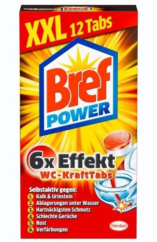 Bref Power WC-KraftTabs, WC Reiniger, 2er Pack  (2 x 12 Tabs)