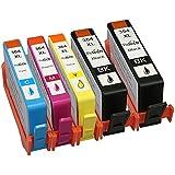 Pictech® Compatible cartouches d'encre de remplacement pour HP 364XL Cartouches d'encre - pour HP Photosmart B8550, B8553, B8558, C6380, C6383, C5324, C5383, C5380, C6324, C5390, C5393, C5388, C5370, C5373, D5468, D5463, D5460, D7560, 5510, 5511, 5512, 5514, 5515, 5520, 5522, 5524, 6510, 6512, 6515, 6520, 7510, 7515, 7520, B010a, B110a, B110c, B110e, B111a, Photosmart Wireless B109a, B109d, B109f, B109n, Photosmart Plus B209a, B209c, B210a, B210c, B210d, Photosmart Premium C309a, C309n, C309g, C310a, C310b, C310c, C410b, Photosmart estation C510a, C510c, Deskjet 3070A, 3520, 3522, 3524, Officejet 4620 Imprimantes (1x Large Noir, 1x Cyan, 1x Magenta, 1x Jaune) (1 Définit + 1 Large Noir)