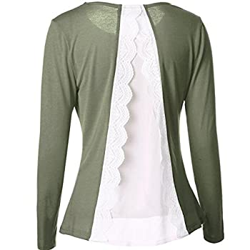 Gwcss Chiffon Stitching Long Sleeve Women , S 1
