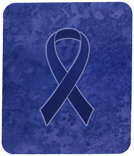 carolines-treasures-dark-blue-ribbon-for-colon-cancer-awareness-mouse-pad-hot-pad-trivet-an1202mp