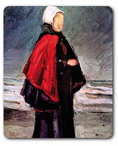 Preisvergleich Produktbild 1art1 89033 Vincent Van Gogh - Fischerfrau Am Strand, 1882, Detail Mauspad 23 x 19 cm