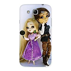 Premium Cutest Couple Multicolor Back Case Cover for Galaxy Mega 5.8