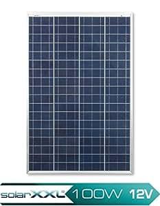 100W Solarmodul Polykristallin - 12V - Solarpanel - Busbar - Upgrade - Camping - Solar-Poly - solarXXL
