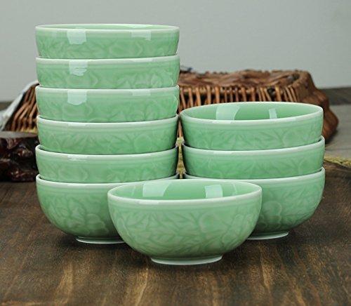 SX-ZZJ Schüssel Keramik Celadon Geschirr 10 4,5 Zoll Set zu Hause Essen Suppenschüssel Mikrowelle (Farbe : A)