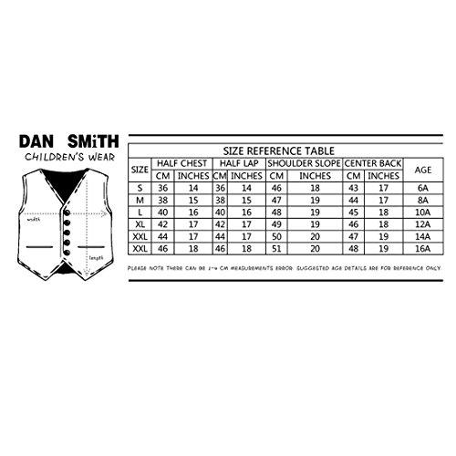 DGEE.03 multiple Plaine microfibre Gilet Nœud papillon âge 6-16 par Dan Smith DGEE0012-Or
