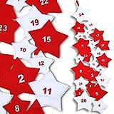 Jago Kalender Filz-Adventskalender 24Beutel mit Form von Sterne (210cm)