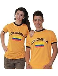 BRUBAKER Kolumbien Fan T-Shirt Orange Gr. S - XXXL
