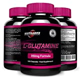 Glutamine, Powerful Amino Acid Supplement used for Stamina Training, Delivers Quick Dose of L Glutamine for Rapid Muscle Recovery During Workouts, Supports Muscle Growth, 850 mg - 120 Capsules from Nutra Rise