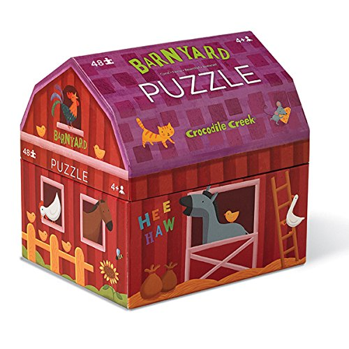 Crocodile Creek 384091-2 Bauernhof Kinder Puzzle, 48 Teile, Größe: 50x38 cm  (Crocodile Creek-48 Teile Puzzle)