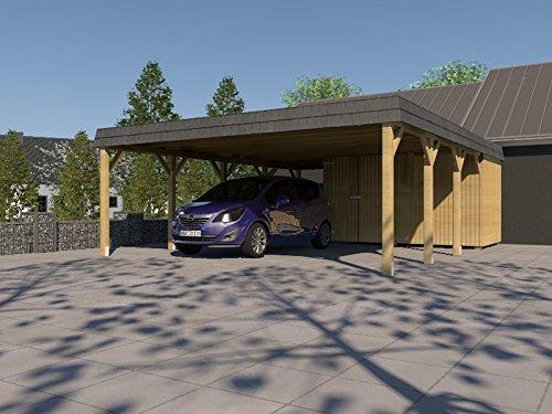 Doppelcarport 600x600cm Konstruktionsvollholz