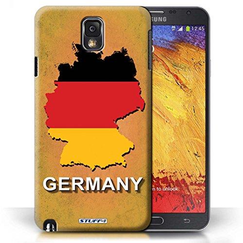 Kobalt® Imprimé Etui / Coque pour Samsung Galaxy Note 3 / Australie conception / Série Drapeau Pays Allemagne/Allemand