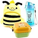 Lantelme 5992Niños Mochila abeja–Juego de fiambrera y botella para Guardería–kinderkrippen y viajes