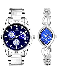ADAMO Designer Analog Blue Dial Unisex's Watch-108-2455SM05