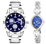 ADAMO Designer Analog Blue Dial Unisex Watch - 108-2455SM05