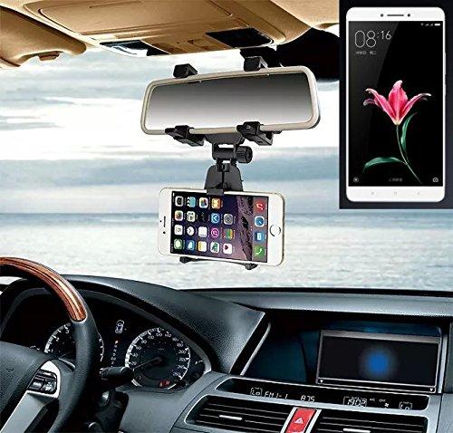 Supporto Smartphone specchietto retrovisore per Xiaomi Mi Max, nero | Specchio Holder staffa auto - K-S-Trade (TM) - Guida All'acquisto Holder