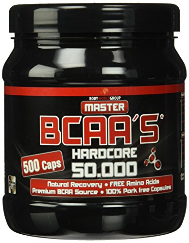 BWG Master BCAA's Hardcore 50.000, Muscle Line, 500 Kapseln, 1er Pack (1 x 295g Dose)