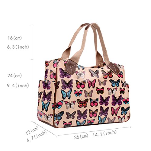 Miss Lulu, Borsa tote donna Butterfly Pink