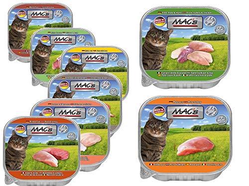 MACs Cat Feinschmecker Katzenfutter Schale Probierpack 85g Größe 8 x 85g
