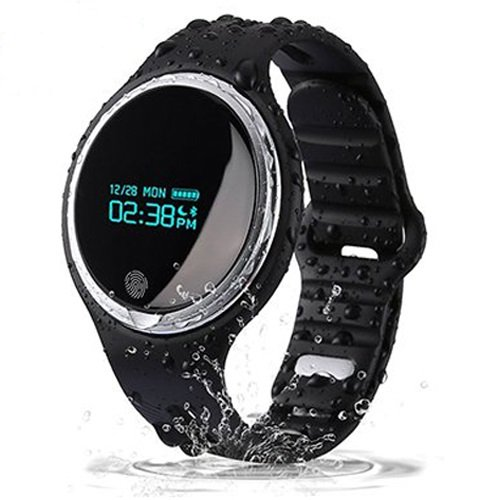 Bluetooth Smartwatch OLED Display Professional Fitness Tracker Waterproof Bracelet with Pedometer, Sedentary Remind, Sleep Monitor, Call Remind, Remote Camera, Message Push for IOS Android Smartphone