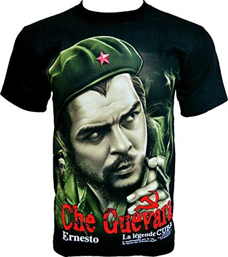Rock Chang T-Shirt * Che Guevara * La Legende Cuba * Uomo Nero R601 (XXL)