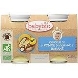 Babybio Pots Douceur de Pomme d'Aquitaine/Banane 260 g - Lot de 6