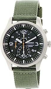 Seiko - SNDA27P1 - Montre Homme - Quartz Chronographe - Bracelet Nylon Vert