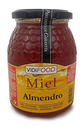 Miel de Almendro - 1kg - Producida en España - Alta Calidad, tradicional & 100% pura - Aroma Floral y Frutal, Sabor Rico y Dulce - Amplia variedad de Deliciosos Sabores
