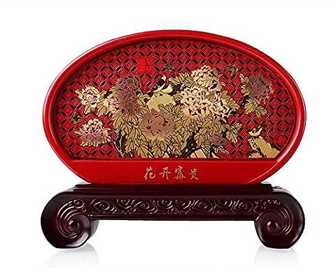 Artisanat de style chinois salon bureau de pivoine Blooming et riches Ameublement Charbon activé décoration marier cadeau , a