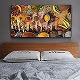 Tabelle Gewürz Küche Raumdekoration Poster und Drucke Leinwand Wandkunst Bilder Moderne Wandkunst Leinwand Gemälde rahmenlose Malerei 30x60cm
