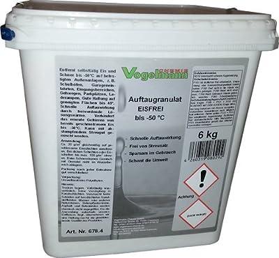 6 kg Auftaugranulat Eisfrei, bis -50 °C, 8 mal schneller als normales Streusalz