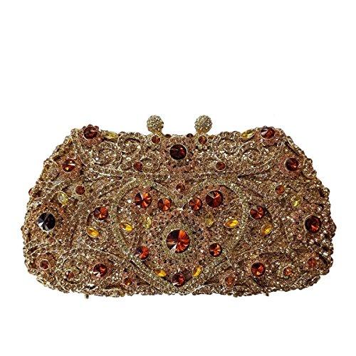 Frauen Paket Luxus-Diamant-Abendbeutel Kristallbrautbeutel Bankett A