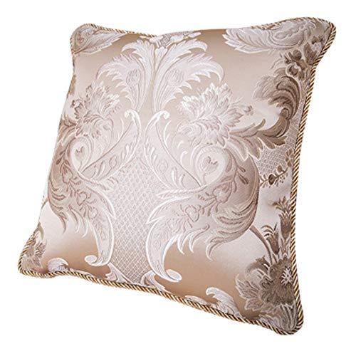 Owenqian-Pillow Outdoor Akzent Kissen Europäischen Kissen Sleeper Standardgröße Sofakissen Dekorative Sets Mit Einsätzen Kissenbezüge 45x45 Dekorative Kissen (Farbe : Beige, Größe : 50cm) -