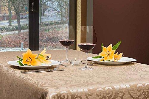 ABWASCHBAR Gartentischdecke oval, acrylbeschichtet, in Designs:Florenz, sand-beige Maß: 160x240