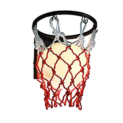 ZYH Wall light Zyhua1 Kreative Basketball Wandleuchte, LED Kind Schlafzimmer Dekoration Wandleuchte Einzelkopf E27, 29 * 35 cm Innenbeleuchtung (größe : 29 * 35CM)