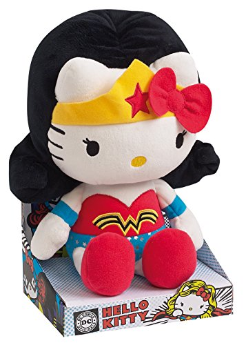 Hello Kitty - Wonder Woman Plush DC Comics Super Heroes - 27cm 10.5""