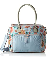 Oilily Charm Sunflower Diaperbag Mhz, Women'S Cross-Body Bag, Blue - Light Blue, 15X28X38 Cm - B X H T
