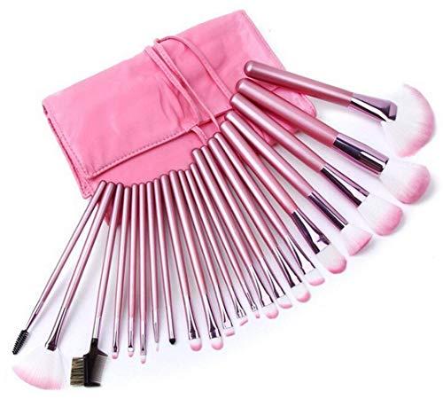22 stücke Make-Up Kosmetik Pinsel Set Professionelle Lidschatten Augenbraue Wimpern Eyeliner Lip Puder Erröten Gesichtsbürste mit Pink Pouch von TheBigThumb